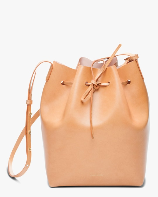 Mansur Gavriel Cammello Leather Bucket Bag 0