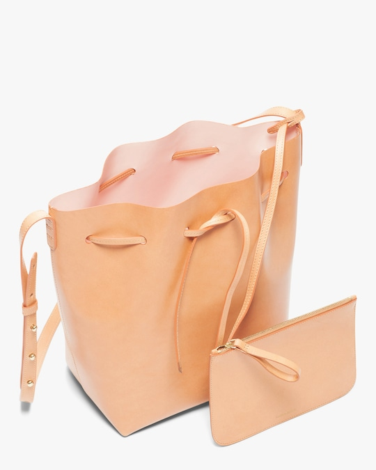 Mansur Gavriel Cammello Leather Bucket Bag 1