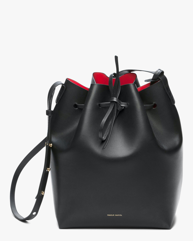 Mansur Gavriel Black Flamma Leather Bucket Bag 0