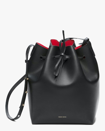 Mansur Gavriel Black Flamma Leather Bucket Bag 1