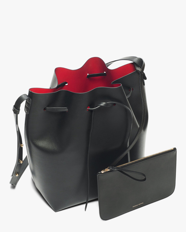 Mansur Gavriel Black Flamma Leather Bucket Bag 2