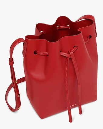 Flamma Mini Leather Bucket Bag