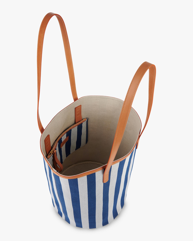 Canvas Circle Bucket Bag