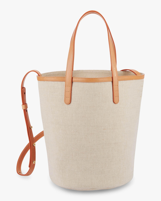 Mansur Gavriel Mini Canvas Circle Bucket Bag 1