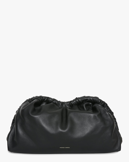 Mansur Gavriel Black Flamma Cloud Clutch 0