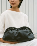 Mansur Gavriel Black Flamma Cloud Clutch 1
