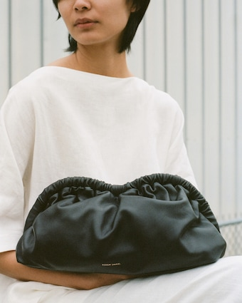 Mansur Gavriel Black Flamma Cloud Clutch 2