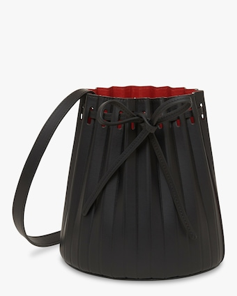 Black Flamma Mini Pleated Bucket Bag