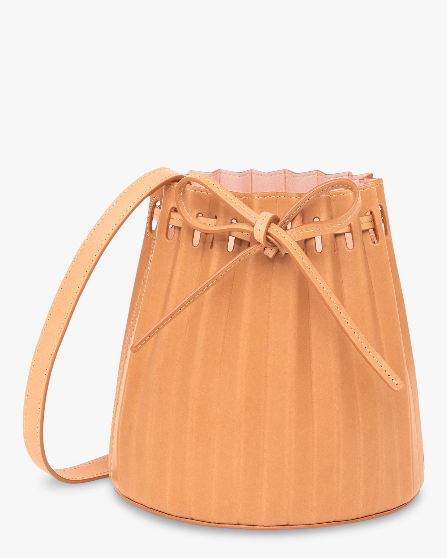 Mansur Gavriel Cammello Mini Pleated Bucket Bag 0