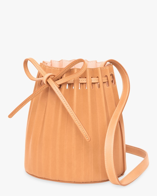 Mansur Gavriel Cammello Mini Pleated Bucket Bag 1