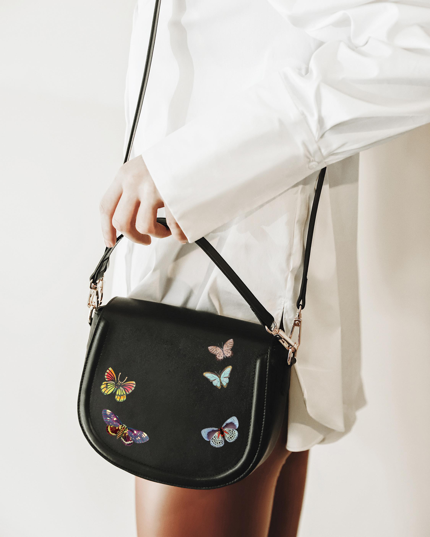 Alepel Butterflies Vegan Leather Bag 2