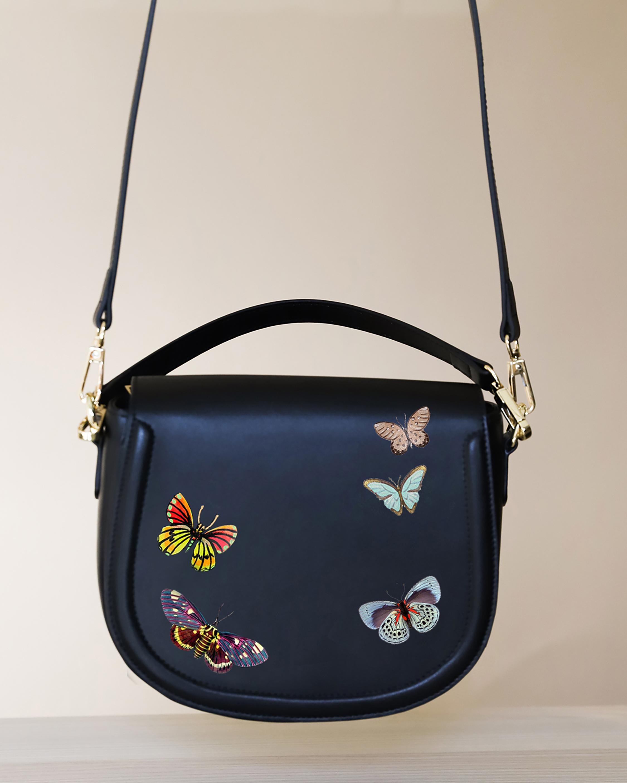 Butterflies Vegan Leather Bag