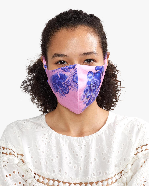 Pink & Blue Cotton Mask