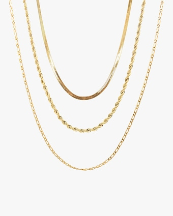 Jordan Road Jewelry Exclusive Triple-Chain Stacked Necklace Set 1