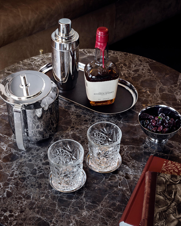 Georg Jensen Manhattan Ice Bucket & Tong 1