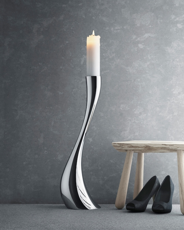 Georg Jensen Cobra Medium Floor Candleholder 1