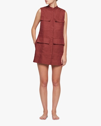 Utility Sleevelss Shift Dress