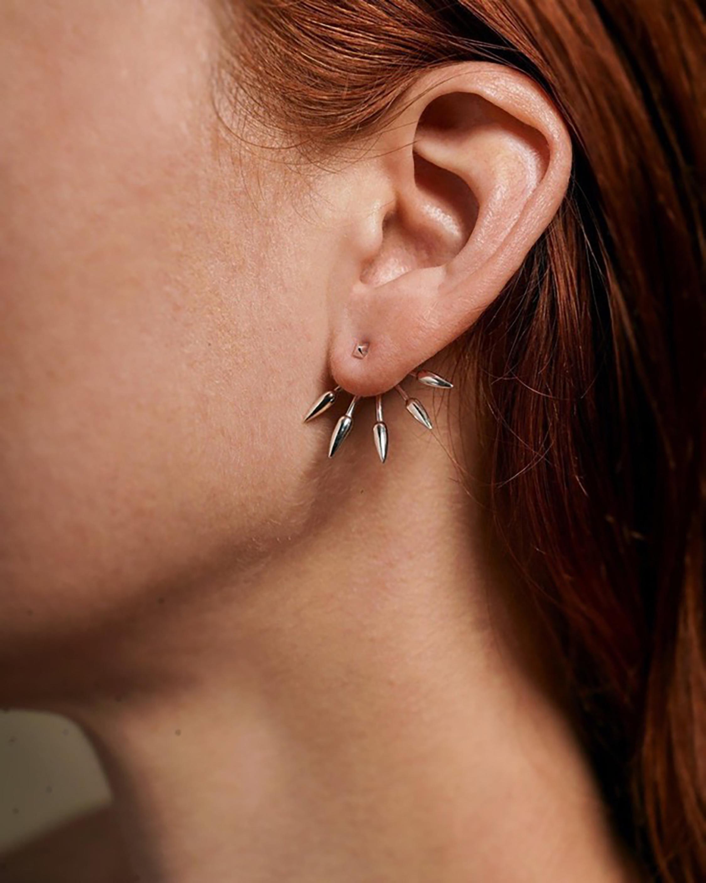Five Spike Earrings