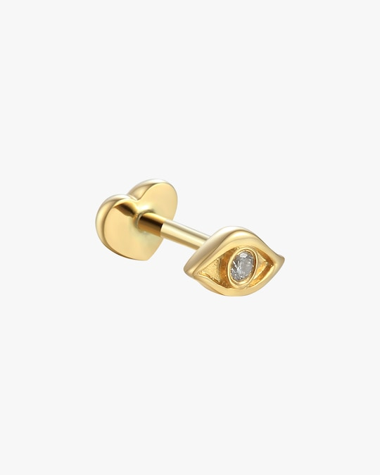 Pamela Love Single Egyptian Eye Stud Earring 0