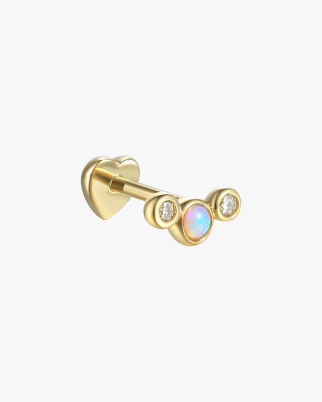 Pamela Love Single Bezel-Set Crescent Earring 0