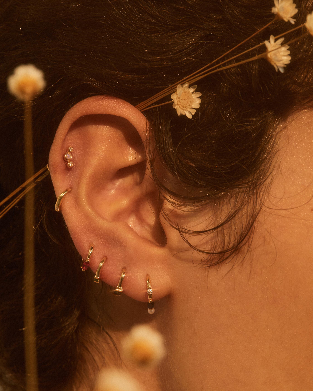 Pamela Love Single Bezel-Set Crescent Earring 1