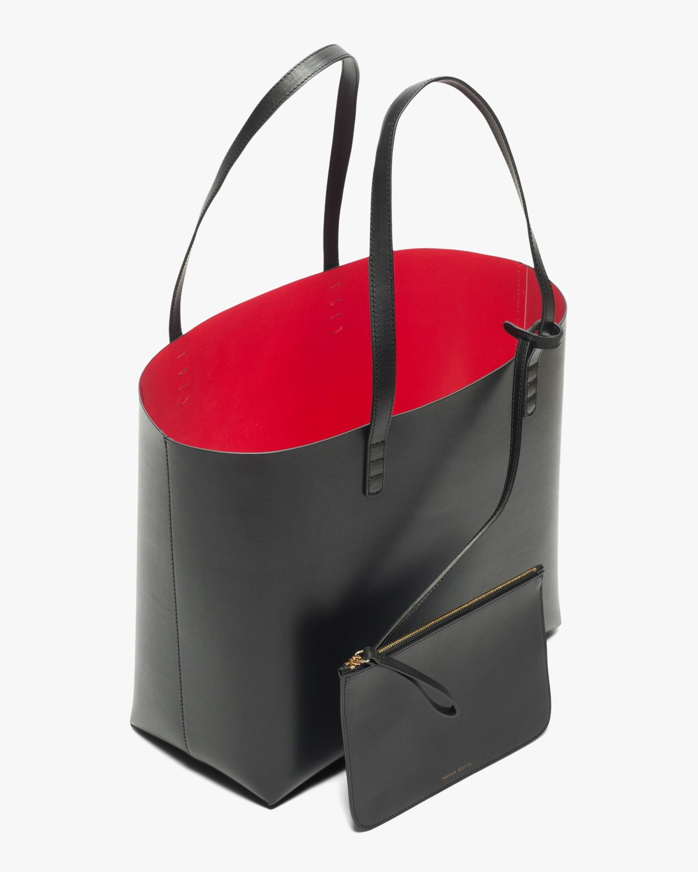 Mansur Gavriel Black Flamma Large Leather Tote 2