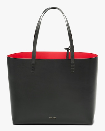 Black Flamma Large Leather Tote