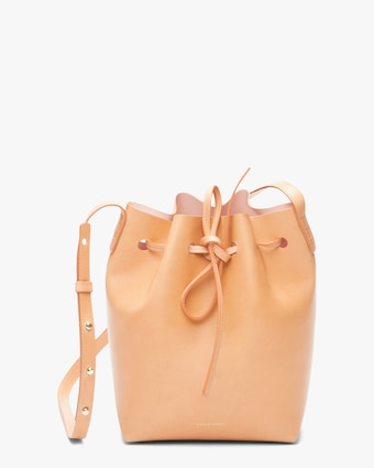 Cammello Mini Leather Bucket Bag