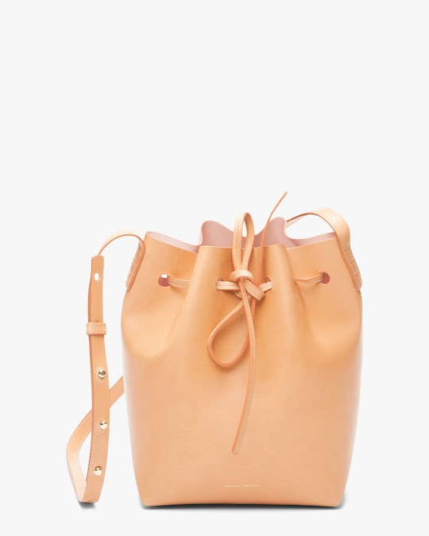 Mansur Gavriel Cammello Mini Leather Bucket Bag 0