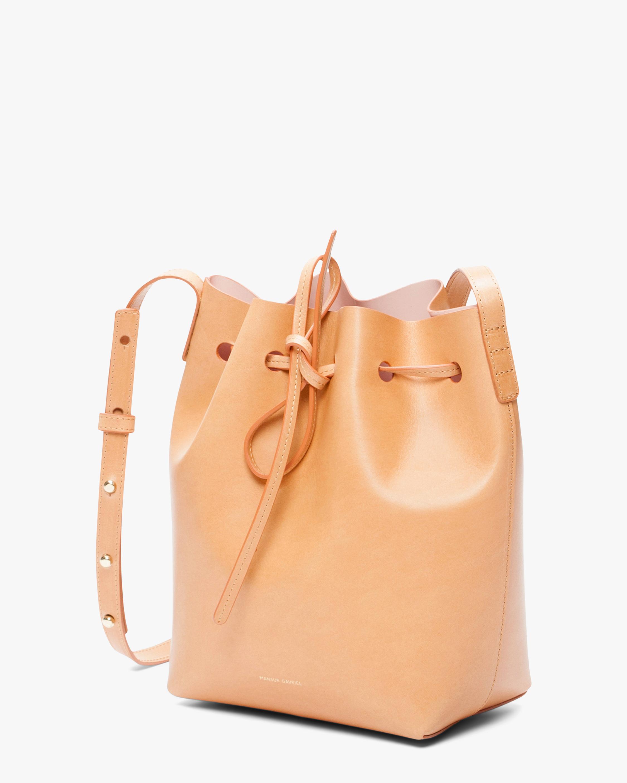 Mansur Gavriel Cammello Mini Leather Bucket Bag 2