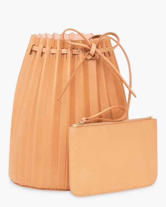 Mansur Gavriel Cammello Pleated Bucket Bag 1