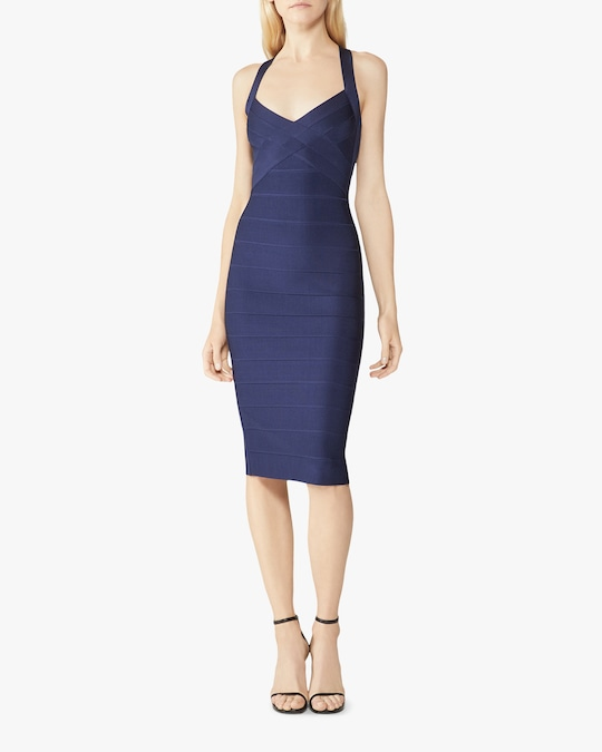 Herve Leger X Back Woven-Front Icon Dress 1