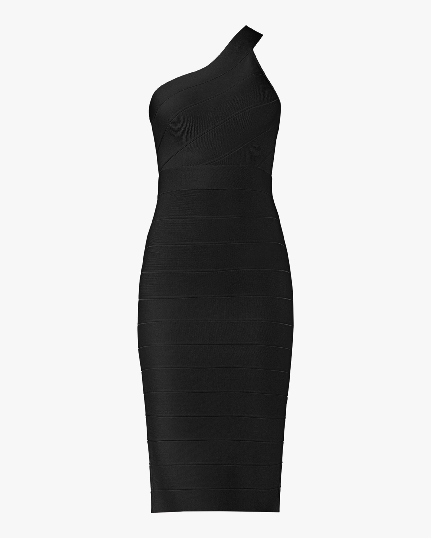 Herve Leger Asymmetrical One-Shoulder Dress 1