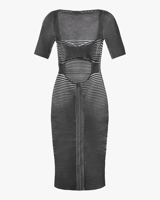 Herve Leger Braided Bustier Dress 4