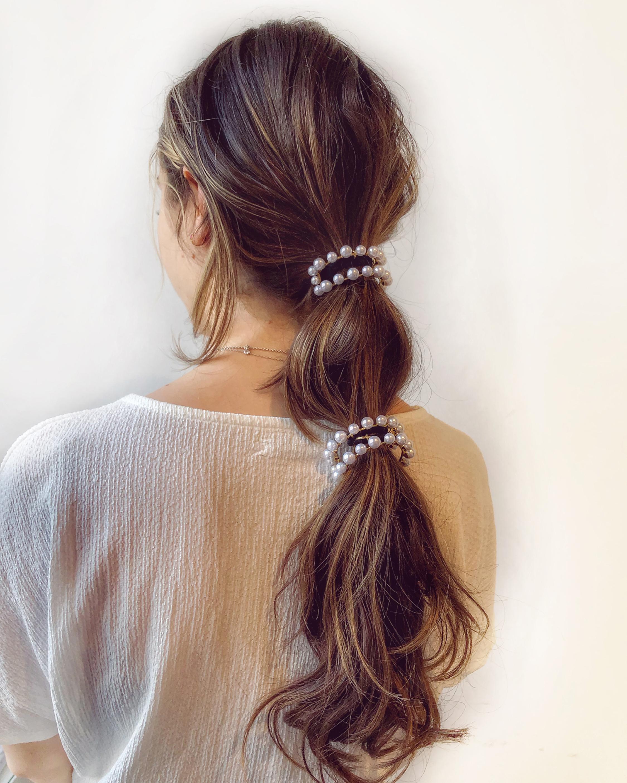 Lelet NY Linear Pearl Pony Cuff 1