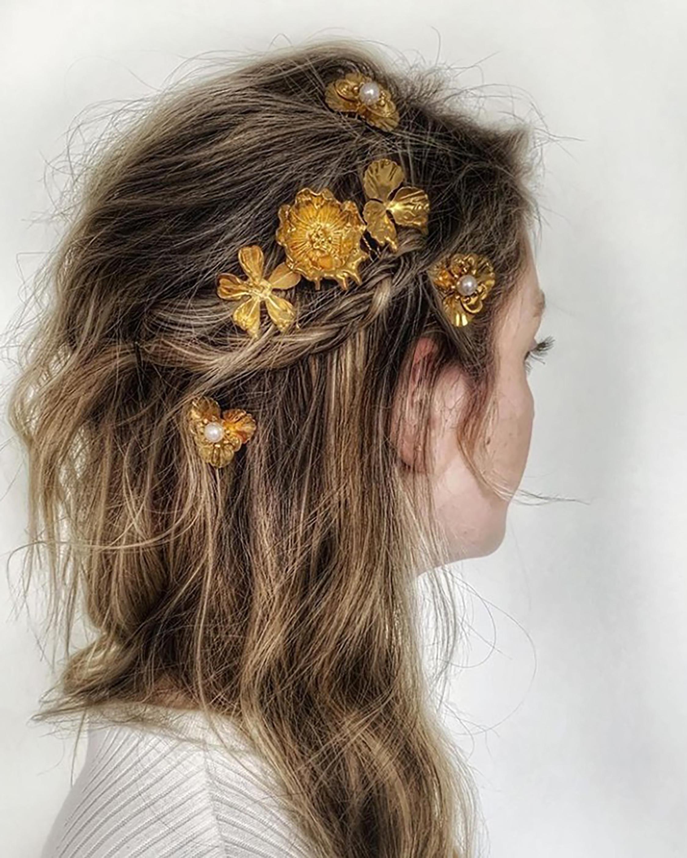 Lava Floral Bouquet Comb