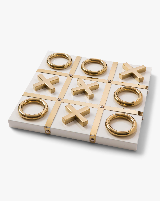Aurosi Goldtone Tic-Tac-Toe Set 0