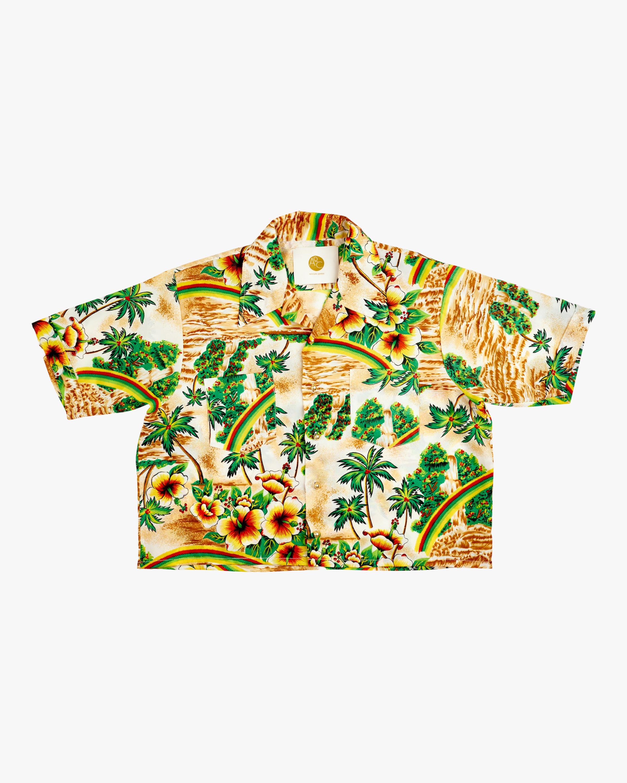 AqC Lani Cropped Hawaiian Shirt 1