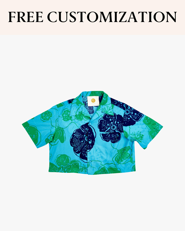Lani Cropped Hawaiian Shirt
