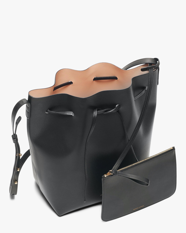 Mansur Gavriel Black Ballerina Leather Bucket Bag 1
