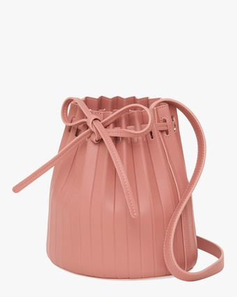 Blush Mini Pleated Bucket