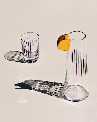 Nude Glass Parrot Water Glasses Set of 2 2