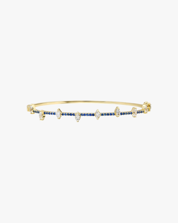 Harika White Diamond & Blue Sapphire Bangle 0