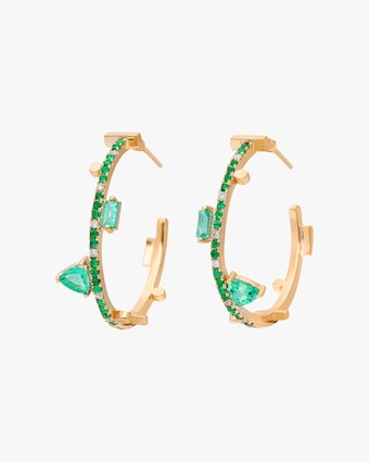 Harika Emerald Hoop Earrings 1