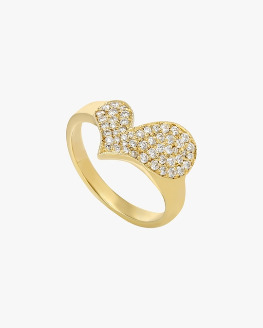 Harika White Diamond Heart Ring 0