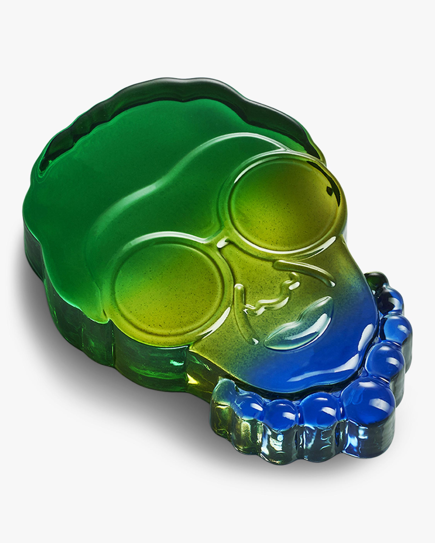 Nude Glass Iris Paperweight 1