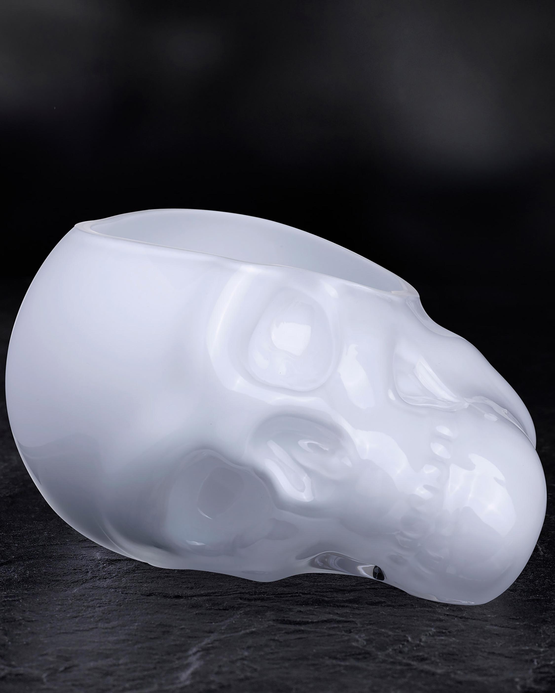 Nude Glass Memento Mori Skull Bowl - Large 2