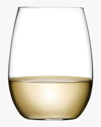 Nude Glass Pure White Wine Glasses Set of 4 1