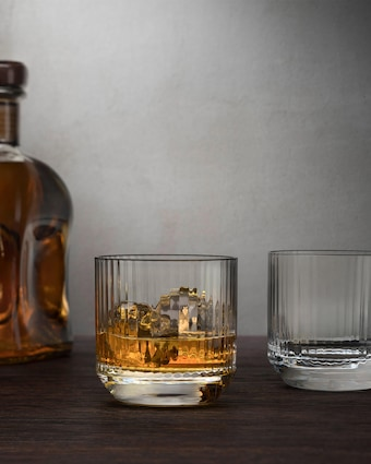 Nude Glass Big Top Whiskey SOF Glasses Set of 4 2
