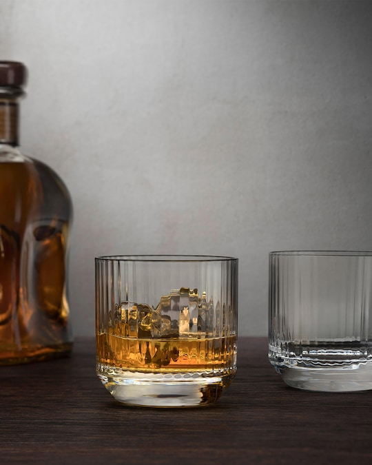 Nude Glass Big Top Whiskey SOF Glasses Set of 4 1